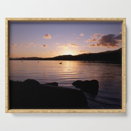 Coniston Water Sunset Serving Tray