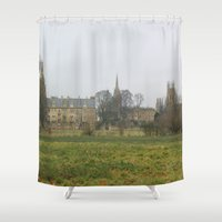 christ Shower Curtains featuring Christ Church, Oxford by Maude Swift