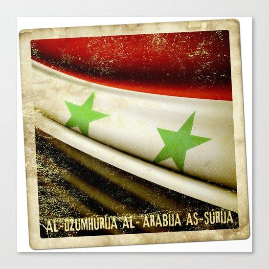 STICKER OF SYRIA flag Canvas Print