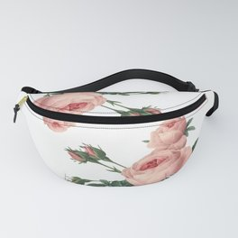 Butterflies in the Rose Garden on White Fanny Pack