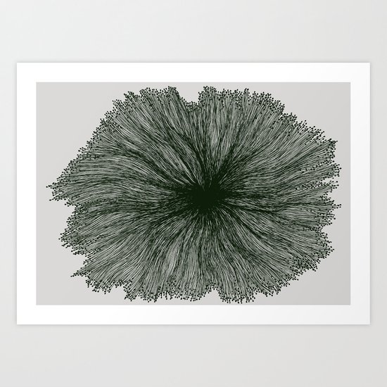 Jellyfish Flower B Art Print