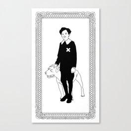 Dog Dick Web Site Canvas Print