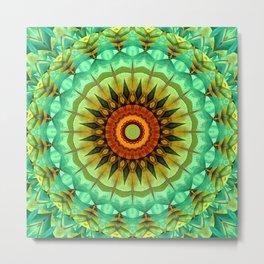 Mandala greentones no. 2 Metal Print