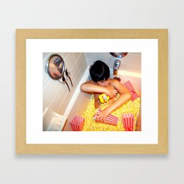 Butter Bath Framed Art Print