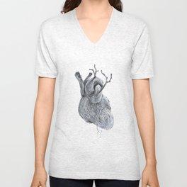 driftwood heart Unisex V-Neck