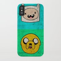 finn and jake iPhone & iPod Cases featuring Finn & Jake by WolfFace