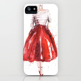 Red skirt / red lips iPhone Case