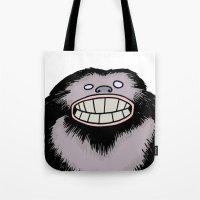 bigfoot Tote Bags featuring Bigfoot by FireAwayMarmot