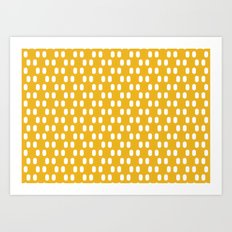 Aelbrecht Yellow Pattern Art Print