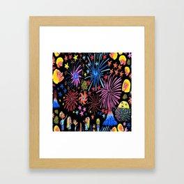 let's go see fireworks Framed Art Print