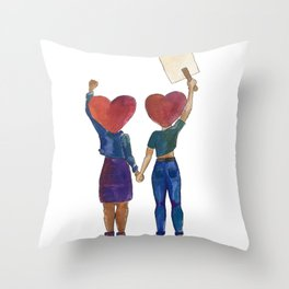 Hand in Hand Throw Pillow