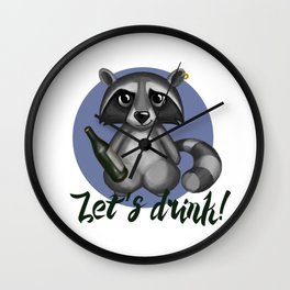 Let`s drink! Wall Clock