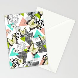 Triangles & butterflies Stationery Cards