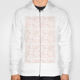 Elegant pink white pastel color chic floral lace Hoody