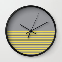 Ultimate Gray & Illuminating Stripes Wall Clock