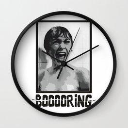 BOOOORING Wall Clock