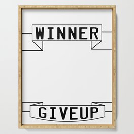 Motivational & Inspirational Tee for person who want success A WINNER IS A DREAMER WHO NEVER GIVE UP Serving Tray