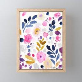 Pink Affair Floral Framed Mini Art Print