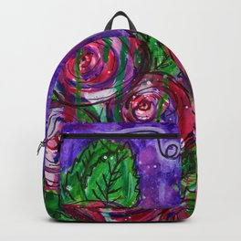 Watercolor Roses - Oh My Backpack