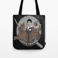 scarface Tote Bags featuring Scarface and his little Friends by Micahbrown3D.com
