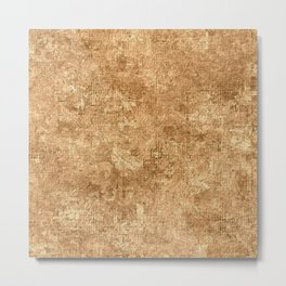 Desert Mist Oil Painting Color Accent Metal Print