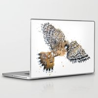 british Laptop & iPad Skins featuring British Kestrel by Jess Stewart-Croker