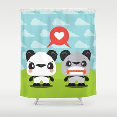 Panda Love Shower Curtain