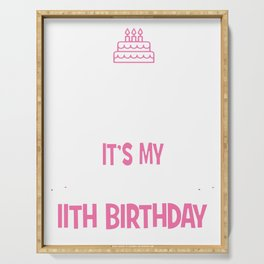 11th Birthday girl t-shirt 11 years old party gift Serving Tray