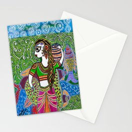 The Indian Fisher Woman Stationery Cards