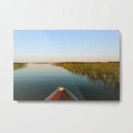 Sunrise Canoe #1 Metal Print