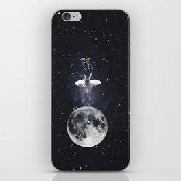 Ballerina on the moon. iPhone Skin