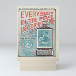 Vintage Musical Poster Mini Art Print