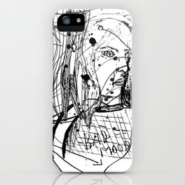 Bad Mood iPhone Case