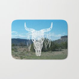 New Mexico Bull Skull Bath Mat