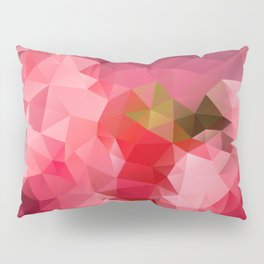 Pink strawberry Pillow Sham
