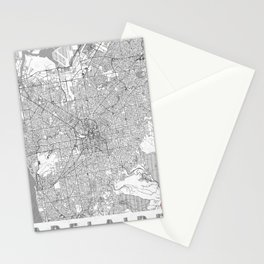 Adelaide Map Line Stationery Cards