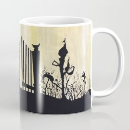 garden illustration venus fly trap haunted house little red riding hood witchy carnivorous Coffee Mug