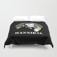 hannibal Duvet Covers featuring Hannibal Smith by Buby87