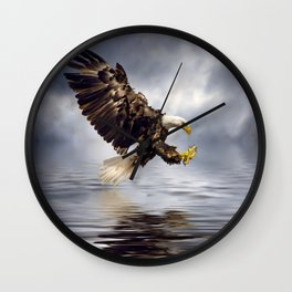 Bald Eagle swooping Wall Clock