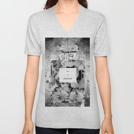 Perfume Black and White Unisex V-Neck