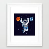 gym Framed Art Prints featuring Space Gym  by Tobe Fonseca