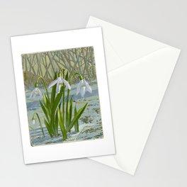 snowdrop flower Stationery Cards