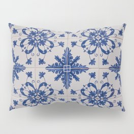 Portuguese azulejos blue Lisbon Pillow Sham