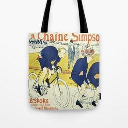 Vintage poster - La Chaine Simpson Tote Bag