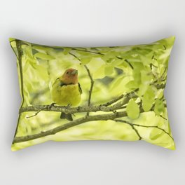 Male Western Tanager, No. 2 Rectangular Pillow