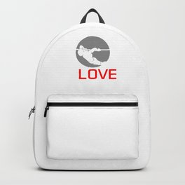 Standing Pushing Gymnastics Vaults Climb Up I Love Korean Dips Fitness Workout Gift Backpack