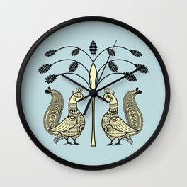 Ethic Art Indian Ducks with tree Wall Clock