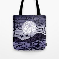 cracked Tote Bags featuring Cracked by Mel Moongazer