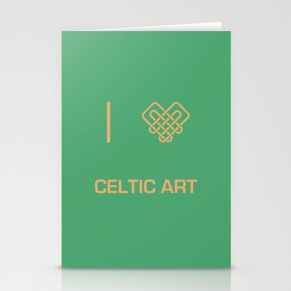 I heart Celtic Art Stationery Cards