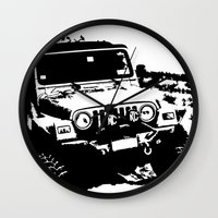 jeep Wall Clocks featuring Jeep by Bwoodstockfoto